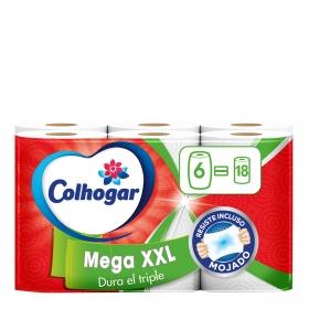 Papel de cocina Mega XXL Colhogar 6 rollos