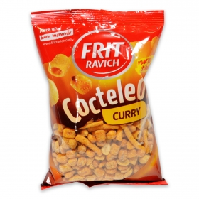 Cocktail de frutos secos y snacks sabor barbacoa Frit Ravich 180 g.