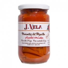 Pimiento piquillo extra artesano 1ª natural J. Vela 250 g.