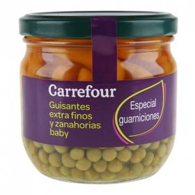 Guisante extrafinos y zanahorias baby