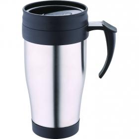 Termo mug 400 ml Acero Inoxidable Asa negro. Moka Chef sauce