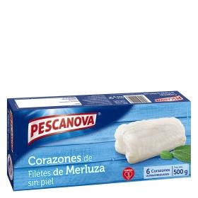 Corazones de filete de merluza Pescanova 500 g.