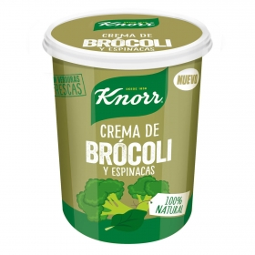 Crema de brócoli con espinacas refrigerada Knorr 460 g.