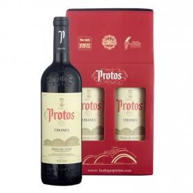 LOTE 89: 2 botellas D.O. Ribera del Duero Protos tinto crianza 75 cl. pack 2x75 cl.