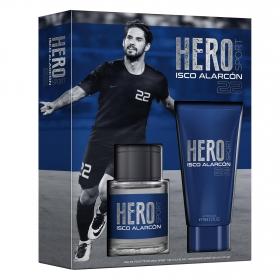 Estuche de colonia Hero Isco Alarcón Vapo 100 ml. + Aftershave 75 ml. 1 ud.