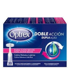 Colirio hidrata y lubrica para ojos secos Optrex 20 ud.