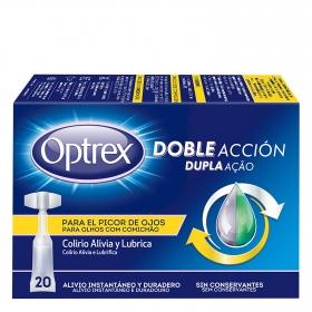 Colirio alivia y lubrica para el picor de ojos Optrex 20 ud.