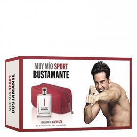Estuche de colonia Bustamante Muy mío Sport Vapo 100 ml. + Neceser