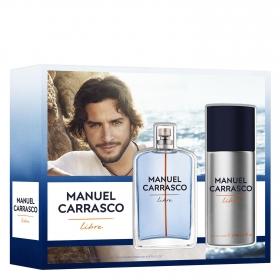 Estuche de colonia Manuel Carrasco Libre Vapo 100 ml. + Deo de 150 ml. 1 ud.