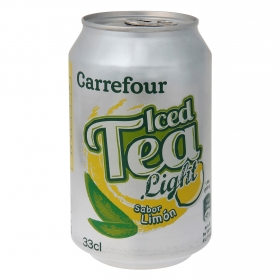 Refresco de té Carrefour light sabor limón lata 33 cl.