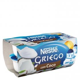 Yogur griego con coco
