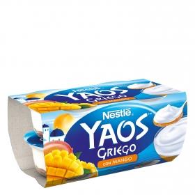 Yogur griego con mango Nestlé Yaos pack de 4 unidades de 120 g.