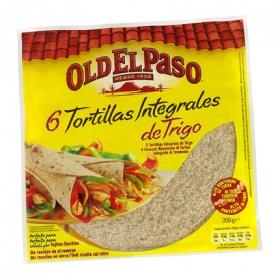 Tortillas integrales de trigo