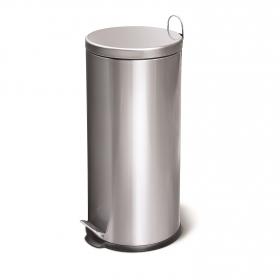 Cubo  de basura  30 Litros Metalizado