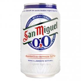 Cerveza San Miguel 0,0 sin alcohol Lager lata 33 cl.
