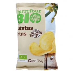 Patatas fritas en aceite de oliva ecológicas Carrefour Bio 100 g.