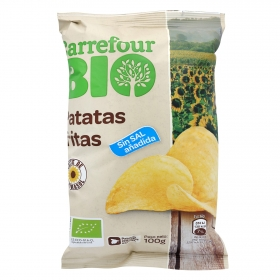 Patatas fritas sin sal añadida ecológicas Carrefour Bio 100 g.