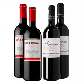 LOTE 63: 2 botellas D.O. Ca. Rioja Viña Pomal tinto crianza 75 cl. +  2 botellas D.O Rioja Azpilicueta tino crianza 75 cl.