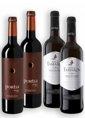 Altos de Tamarón Roble + Portia Roble Tinto