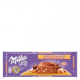 Chocolate extrafino con leche relleno de almendras y trufas