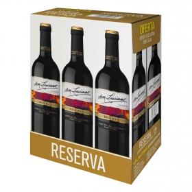 Estuche de vino D.O La Mancha tinto reserva Don Luciano pack 6x750 ml.