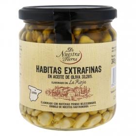 Habitas extrafinas en aceite de oliva