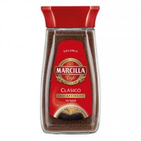 Café soluble descafeinado Marcilla 200 g.