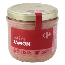 Paté de jamón Carrefour sin gluten y sin lactosa 160 g.