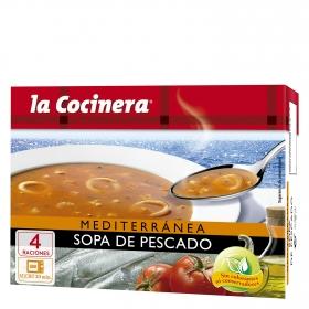 Sopa de pescado Mediterranea La Cocinera 500 g.