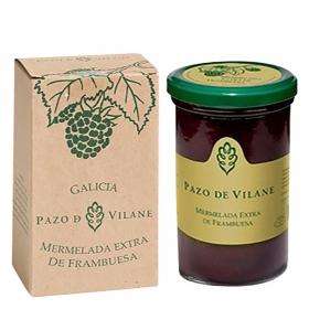 Mermelada de frambuesa categoría extra ecológica Pazo De Vilane 300 g.