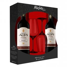 Estuche de 2 vinos Castillo de Albai D.O Rioja tinto crianza