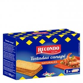 Tostadas Canapé cuadradas Recondo 100 g.