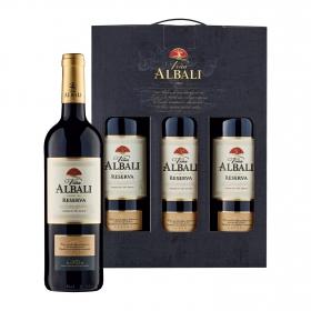 LOTE 69: 3 botellas D.O. Valdepeñas Viña Albali tinto reserva 75 cl. pack 3x75 cl.