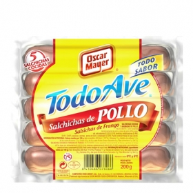 Salchichas cocidas de pollo 'Todo Ave'