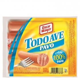 Salchichas cocidas de pavo 'Todo Ave' Oscar Mayer 200 g.