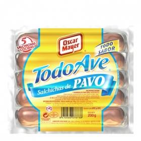 Salchichas cocidas de pavo 'Todo Ave'