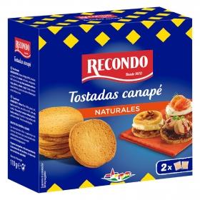 Tostadas de canapé redondas Recondo 100 g.