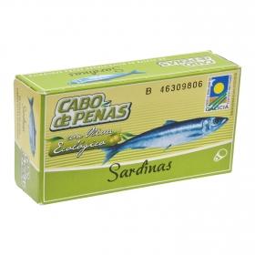 Sardinas en aceite de oliva ecológicas Cabo de Peñas 84 g.