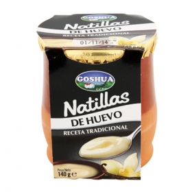Natillas de huevo