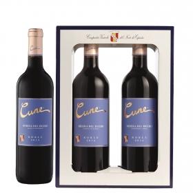 LOTE 71: 2 botellas D.O. Ribera del Duero Cune tinto roble 75 cl.