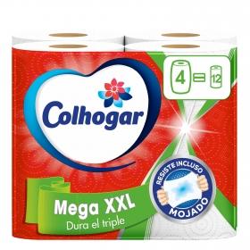 Papel de cocina Mega XXL Colhogar 4 rollos.