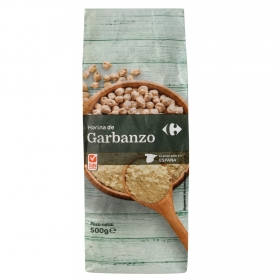 Harina de garbanzo Carrefour sin gluten 500 g.