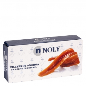 Filetes de anchoas en aceite de girasol Noly 45 g.