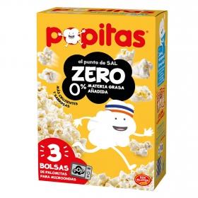 Palomitas 007 saladas para microondas pack de 3 bolsas de 70 g.