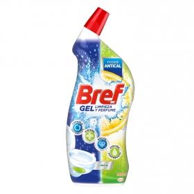 Limpiador de baño poder antical aroma limón en gel Bref 700 ml.