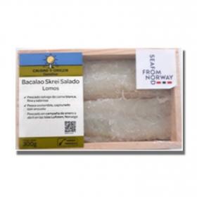 Bacalao salado lomos Skrei, Carrefour Calidad y Origen 300 g