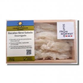 Bacalao salado desmigado Skrei, Carrefour Calidad y Origen 250 g