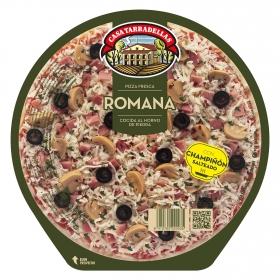 Pizza Romana de jamón cocido, aceitunas y champiñones Casa Tarradellas 415 g.