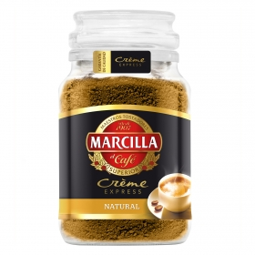 Café soluble natural créme express Marcilla 200 g.