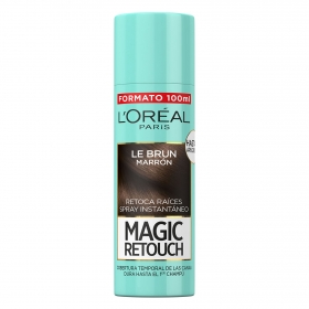 Tinte retoca raíces spray instantáneo castaño L'Oréal Magic Retouch 100 ml.